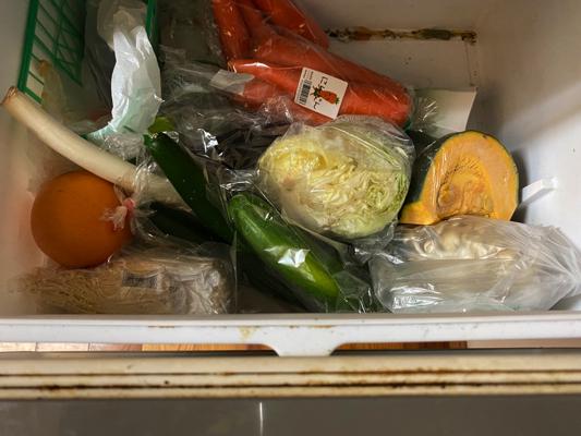 整理前の野菜