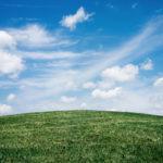 真っ青な空