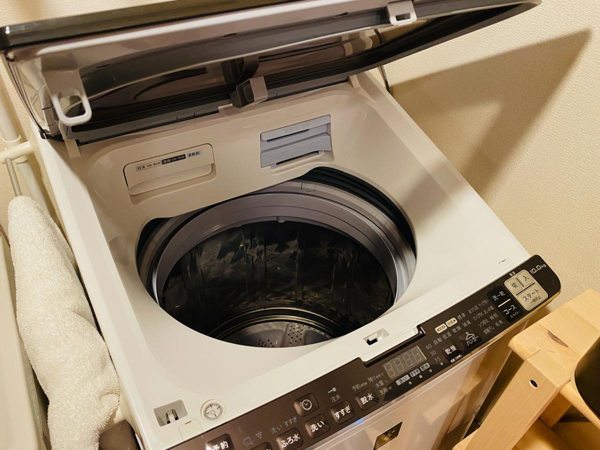 「縦型洗濯機」はカンタンに掃除できます!